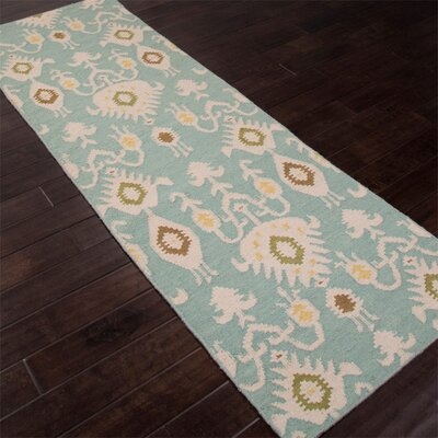 Tommy Hand-Woven Blue Area Rug Rug Size: Runner 26 x 8
