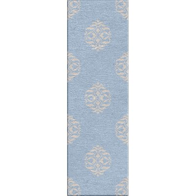 Tristin Tribal Blue & Gray Area Rug Rug Size: 5 x 8