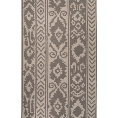 Terrence Gray/Ivory Tribal Area Rug Rug Size: 36 x 56