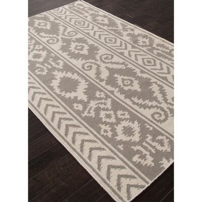 Terrence Gray/Ivory Tribal Area Rug Rug Size: 5 x 8