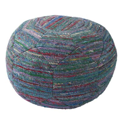 Cannon Solid Rayon and Polyester Pouf Ottoman