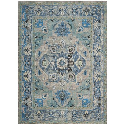 Norwood Blue/Gray Area Rug Rug Size: 51 x 79