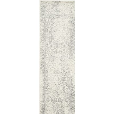Norwell Gray/Beige Area Rug Rug Size: Runner 26 x 8
