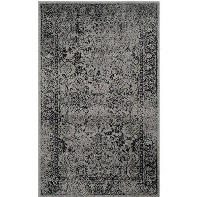 Alisa Gray/Black Area Rug Rug Size: 3 x 5