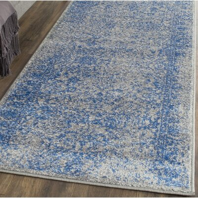 Norwell Gray/Blue Area Rug Rug Size: 4' x 6'