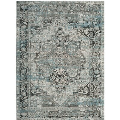 Norwood Oriental Blue/Gray Area Rug Rug Size: Rectangle 33 x 53