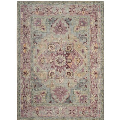 Norwood Grape/Blue Area Rug Rug Size: Rectangle 51 x 79