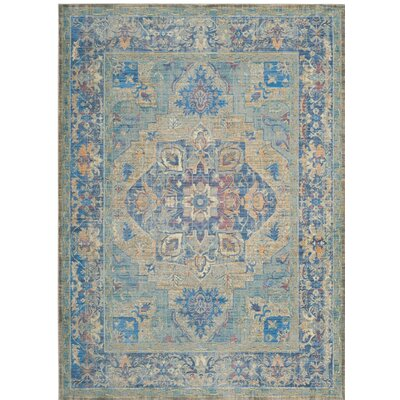 Norwood Blue/Beige Area Rug Rug Size: 9 x 12