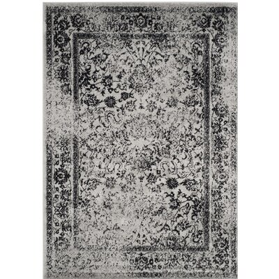 Norwell Gray/Black Area Rug Rug Size: Rectangle 10 x 14