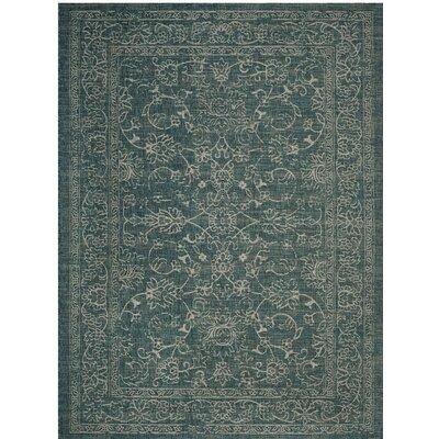 Haddad Blue/Gray Area Rug Rug Size: 8 x 11