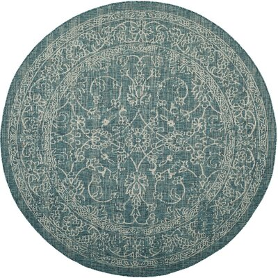 Haddad Blue/Gray Area Rug Rug Size: Rectangle 67 x 96