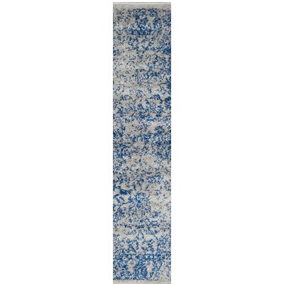 Norwell Gray/Blue Area Rug Rug Size: Rectangle 26 x 4