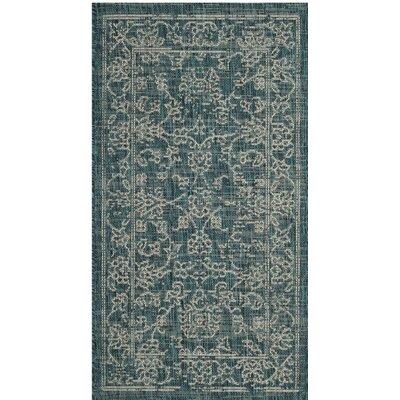 Haddad Blue/Gray Area Rug Rug Size: Rectangle 27 x 5