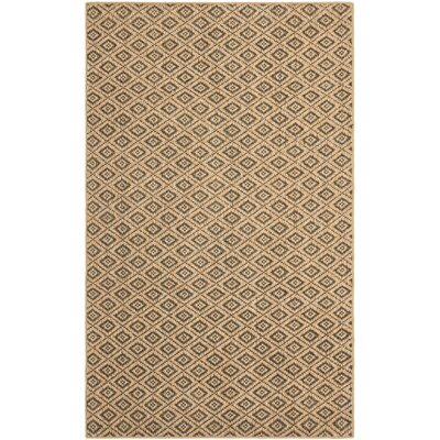 Taj Natural/Black Area Rug Rug Size: 4 x 6
