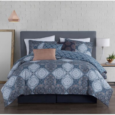 Rhett 7 Piece Comforter Set Size: King