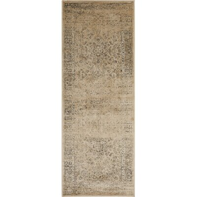 Vishnu Beige/Brown Area Rug Rug Size: Runner 22 x 12