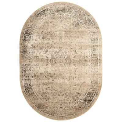 Todd Beige/Brown Area Rug Rug Size: Oval 53 x 76