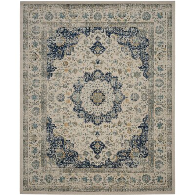 Elson Ivory & Cream Area Rug Rug Size: 8 x 10