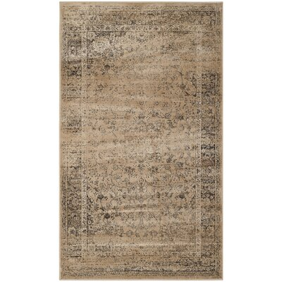 Todd Beige/Brown Area Rug Rug Size: Rectangle 76 x 106