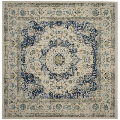 Elson Ivory & Cream Area Rug Rug Size: Square 9
