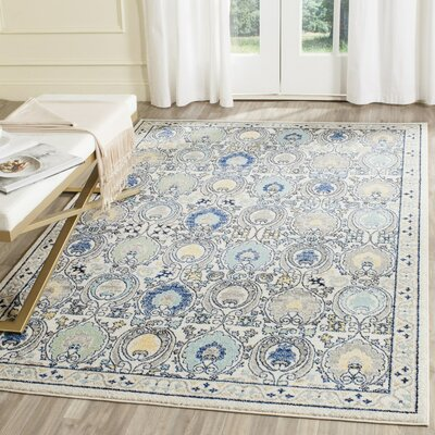 Aegean Ivory/Gray Area Rug Rug Size: Rectangle 51 x 76