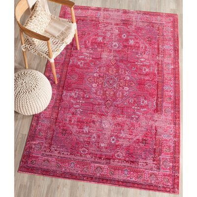 Esmeyer Red Area Rug Rug Size: Rectangle 4 x 6