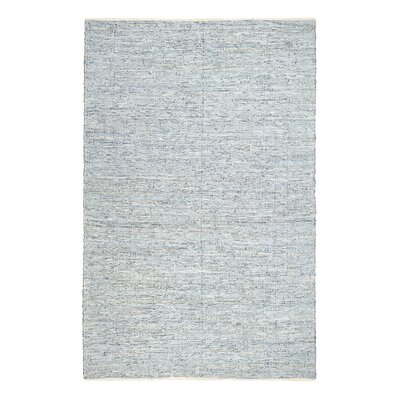 Sindibad Hand-Woven Pale Blue/White Area Rug Rug Size: 5 x 7