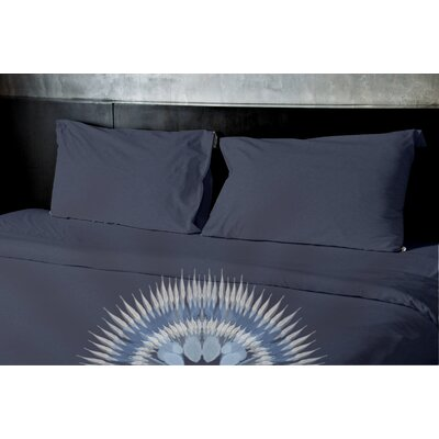 Kash Duvet Set Size: King, Color: Navy Blue