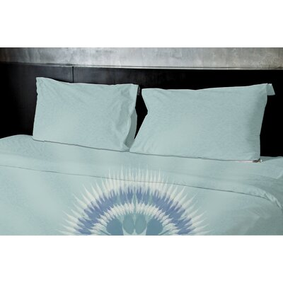 Kash Duvet Set Size: King, Color: Blue