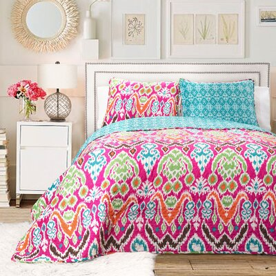 Capellen 3 Piece Reversible Quilt Set Size: King