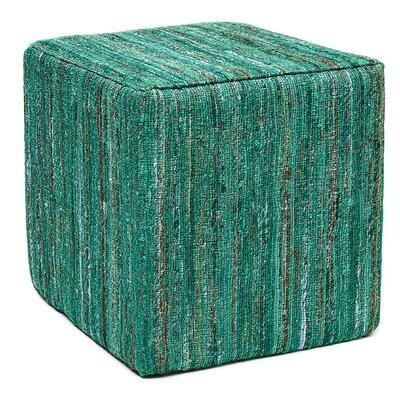Brennen Saree Pouf Ottoman Upholstery: Green