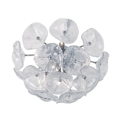 Franeker 8-Light Flush/Wall Mount Shade Color: Clear Murano