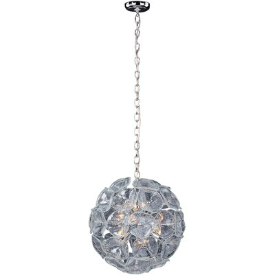 Asherton 12-Light Geometric Pendant Glass Color: Clear Murano