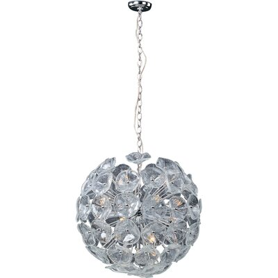 Franeker 20-Light Geometric Pendant Glass Color: Clear Murano