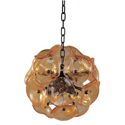 Franeker 8-Light Pendant Finsh / Glass: Bronze / Amber Murano