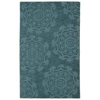 Ouinane Turquoise Solid Area Rug Rug Size: Rectangle 2 x 3
