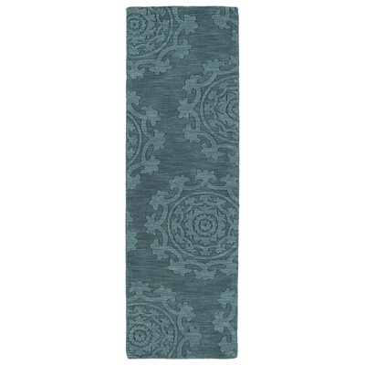 Ouinane Turquoise Solid Area Rug Rug Size: Runner 26 x 8