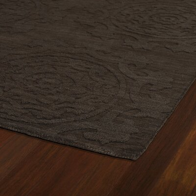 Ouinane Chocolate Solid Area Rug Rug Size: 96 x 136