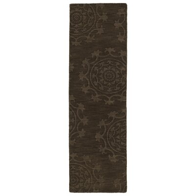 Ouinane Chocolate Solid Area Rug Rug Size: Runner 26 x 8