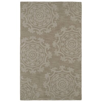 Ouinane Light Brown Solid Area Rug Rug Size: 96 x 136