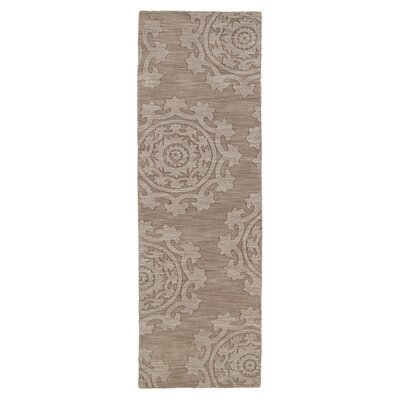 Ouinane Light Brown Solid Area Rug Rug Size: Runner 26 x 8