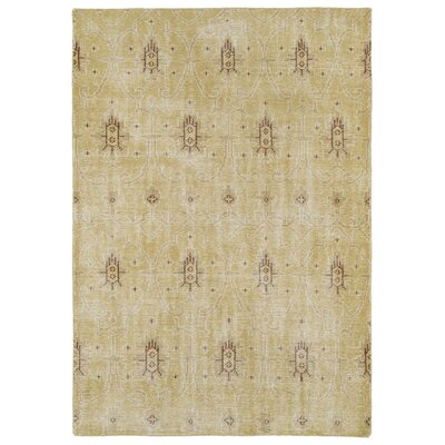 Tonya Gold Area Rug Rug Size: Rectangle 4 x 6