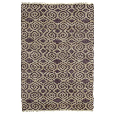 Saint-Joseph Tan and Plum Area Rug Rug Size: 36 x 56