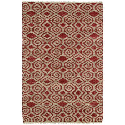 Saint-Joseph Beige/Red Area Rug Rug Size: Rectangle 2 x 3