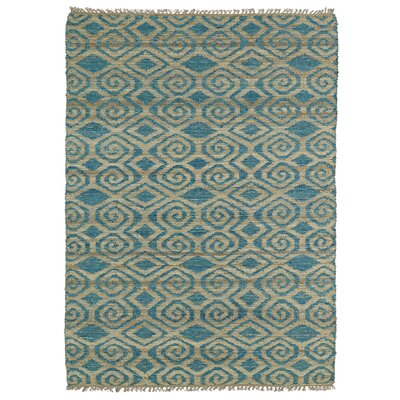 Saint-Joseph Beige & Blue Area Rug Rug Size: Rectangle 76 x 9