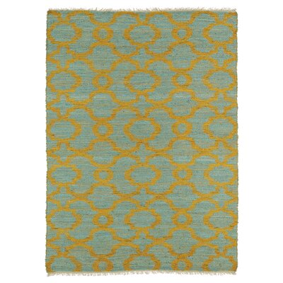Saint-Joseph Orange/Turquoise Area Rug Rug Size: 36 x 56