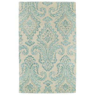 Paita Beige/Turquoise Area Rug Rug Size: 36 x 56