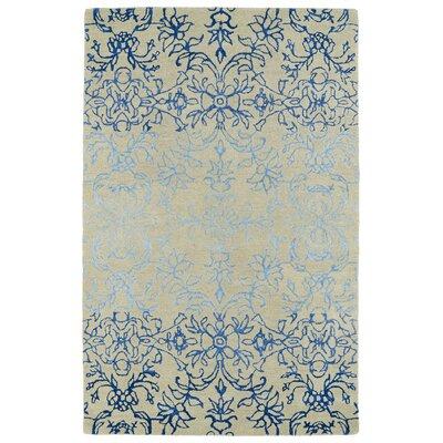 Paita Ivory & Blue Area Rug Rug Size: Rectangle 36 x 56