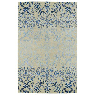 Paita Ivory & Blue Area Rug Rug Size: 2 x 3