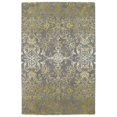 Paita Gray/Gold Area Rug Rug Size: 36 x 56
